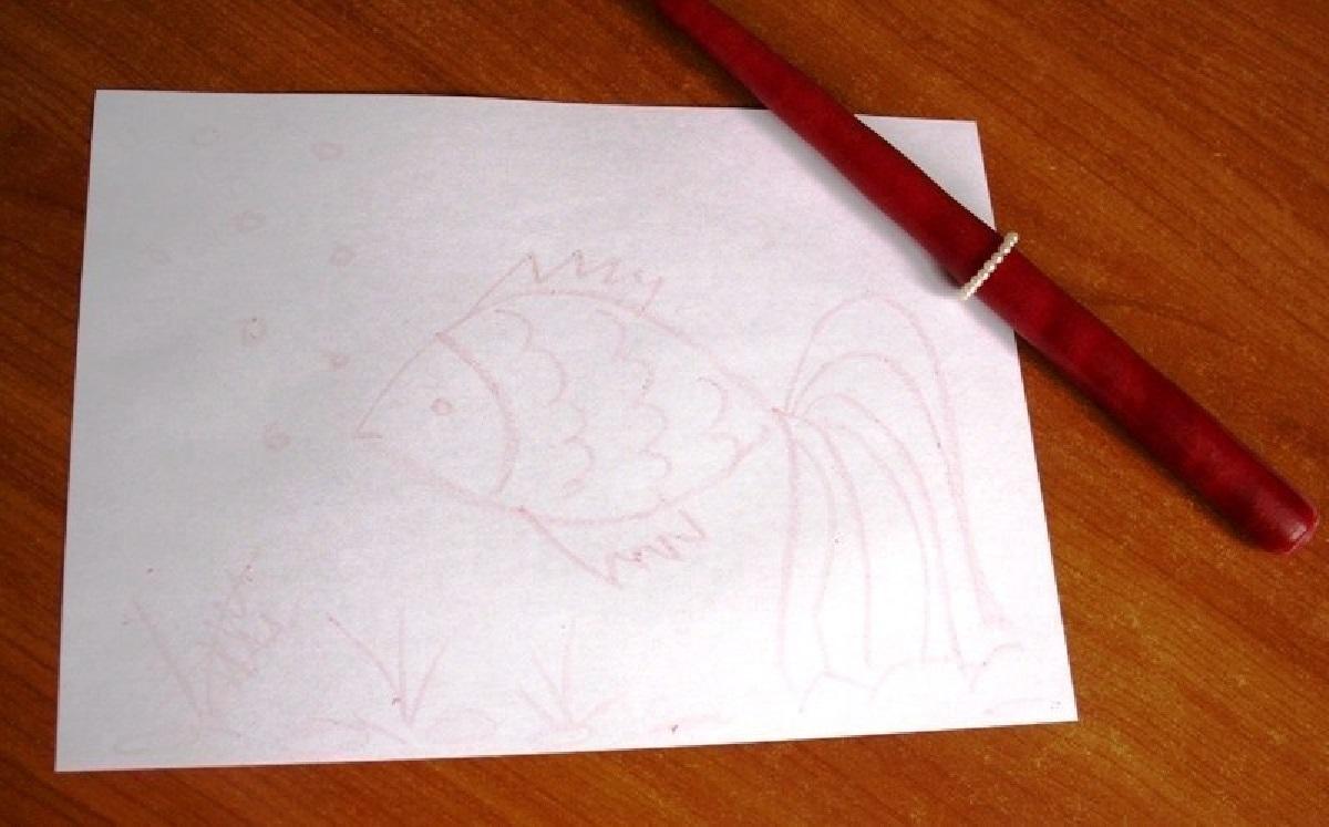 Рисунок на бумаге свечкой